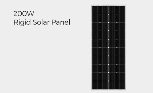 200W Rigid Solar Panel