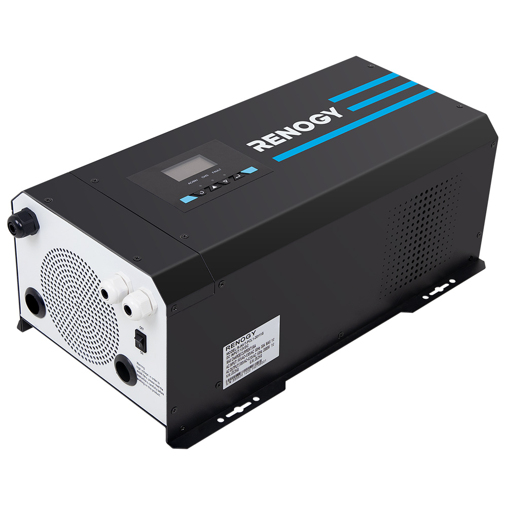 Renogy 2000W 12V Pure Sine Wave Inverter Charger with LCD Display